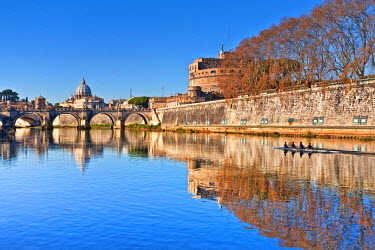 ITA1144AW Mausoleum of Hadrian, Rome, Lazio, Italy, Europe