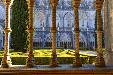 POR6785AW Cloisters of the Batalha monastery, a UNESCO World Heritage Site. Portugal