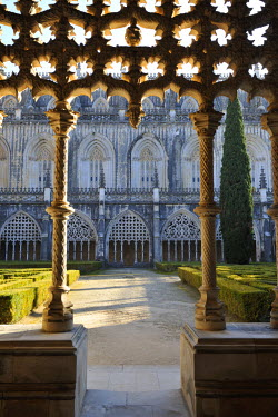 POR6786AW Cloisters of the Batalha monastery, a UNESCO World Heritage Site. Portugal
