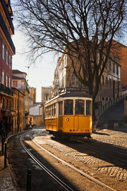 POR6772AW A tramway in Alfama district. Lisbon