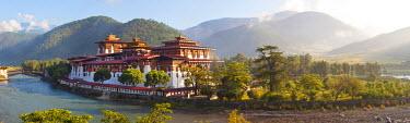 BX01051 Punakha Dzong monastery, Punakha, Bhutan
