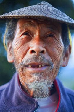 BX01052 Old Bhutanese farmer, Bhutan