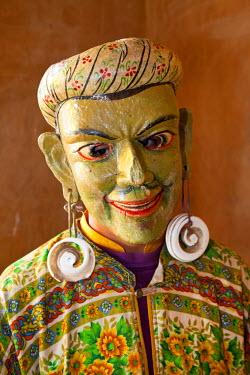 BX01057 Masked dancer, Festival, Gangtey Dzong  monastery, Phobjikha Valley, Bhutan