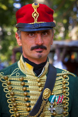 HU01298 Hungarian Hussar Horseman, Budapest, Hungary