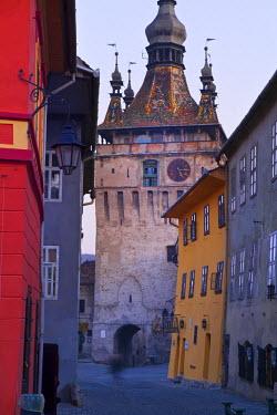 RM01298 Clock Tower & Medieval Old Town, Sighisoara, Transylvania, Romania