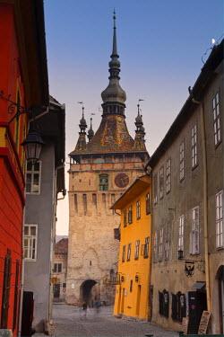 RM01296 Clock Tower & Medieval Old Town, Sighisoara, Transylvania, Romania