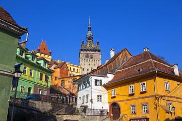 RM01290 Clock Tower & Medieval Old Town, Sighisoara, Transylvania, Romania