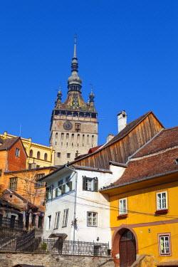 RM01289 Clock Tower & Medieval Old Town, Sighisoara, Transylvania, Romania