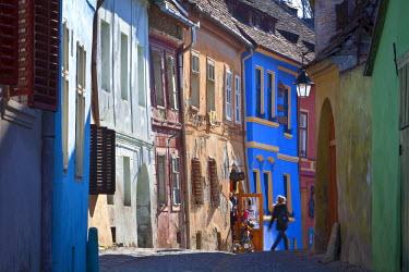 RM01286 Medieval Old Town, Sighisoara, Transylvania, Romania