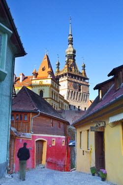 RM01287 Clock Tower & Medieval Old Town, Sighisoara, Transylvania, Romania
