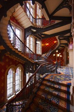 UK10561 The Grand Staircase, St. Pancras Hotel, London, England, UK