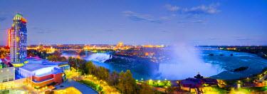 CA03175 Canada, Ontario and USA, New York State, Niagara Falls, American Falls, Bridal Veil Falls and Horseshoe Falls