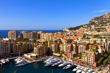 MNC0141 Fontvieille port in Principality of Monaco, Europe