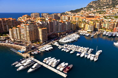 MNC0147 Fontvieille port in Principality of Monaco, Europe