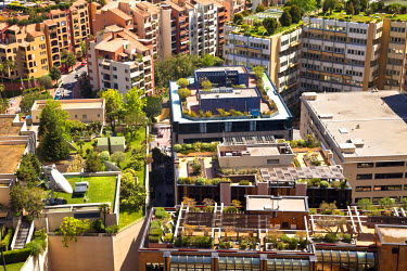 MNC0155 Roof gardens in Fontvieille, Principality of Monaco, Europe