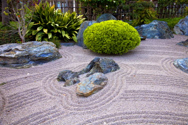 MNC0170 Zen Garden at Japanese Gardens in Larvotto, Principality of Monaco, Europe