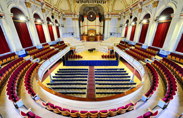 ENG10399AW Europe, England, West Yorkshire, Huddersfield Town Hall