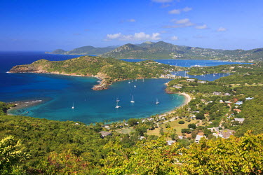 AB01043 Caribbean, Antigua and Barbuda, English Harbour from Shirley's Heights