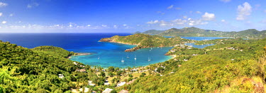AB01044 Caribbean, Antigua and Barbuda, English Harbour from Shirley's Heights