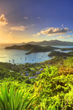 AB01064 Caribbean, Antigua and Barbuda, English Harbour from Shirley's Heights