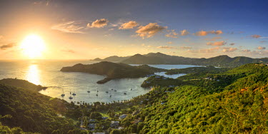 AB01065 Caribbean, Antigua and Barbuda, English Harbour from Shirley's Heights