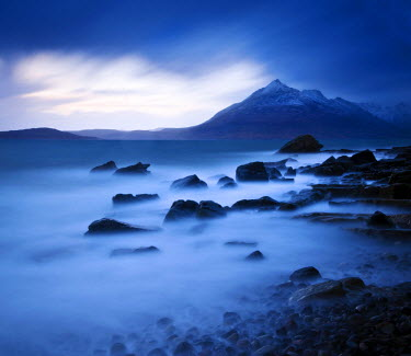 SCO33175AW View from Elgol beach to the Cuillin Hills, Isle of Skye, Scotland, UK
