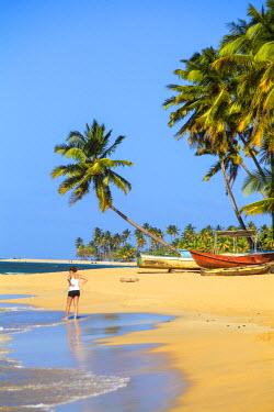 DM01151 Dominican Republic, Samana Peninsula, Beach at Las Terrenas