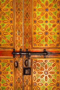 MC02640 Interior door detail, Moulay Ismal Mousoleum, Medina, Meknes, Morocco