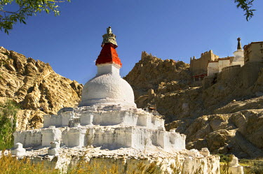Ladakh, India. Religious structures, gompas and chortens, dot all the regions of Ladakh offering various tokens of worship.