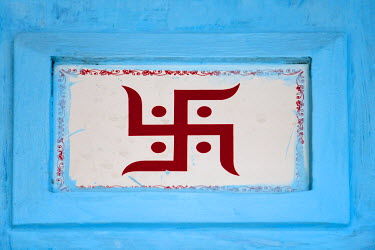 AS10KSU0467 Hindu symbol, Swastika, Varanasi, India