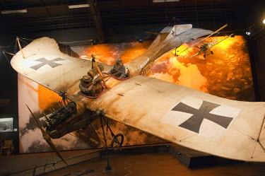 AU02LFO0051 New Zealand, South Island, Marlborough, exhibitis at Omaka Aviation Heritage Centre, celebrating WWI aerial combat