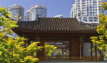 CN02WSU0040 Dr. Sun Yat-Sen Chinese garden in Chinatown, Vancouver, British Columbia, Canada