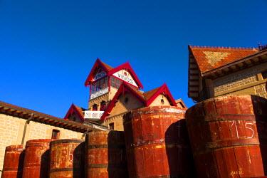 SPA4605 Bodega Lopez de Heria wine cellar in the village of Haro, La Rioja, Spain, Europe