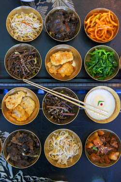 NK01112 Democratic Peoples's Republic of Korea (DPRK), North Korea, Kaesong City, typical North Korean food