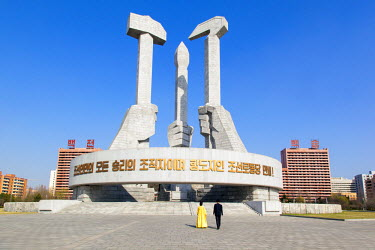 Democratic Peoples's Republic of Korea (DPRK), North Korea, Pyongyang, Monument to the Foundation of the Workers Party of Korea
