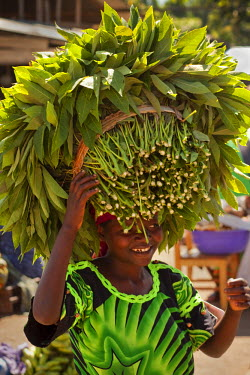 AR4441400005 Sha Sha, North Kivu, Democratic Republic Of Congo: A Woman Carries A Bundle Of Cassava Leaves To The Sha Sha Market In North Kivu Province Of The Democratic Republic Of The Congo (Drc).