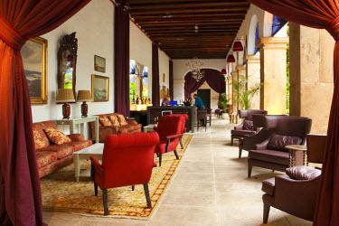BRA0645AW Brazil, Bahia, Salvador, the cloister bar in the Convento do Carmo hotel in Salvador