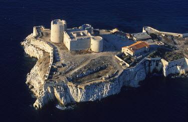 HMS264661 France, Bouches du Rhone, Marseille, european capital of culture 2013, Chateau d'If (aerial view)