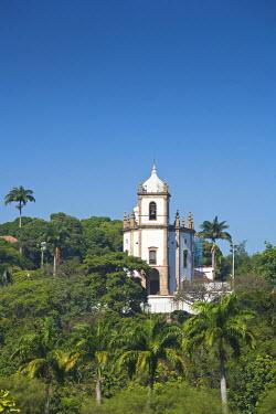 BRA0845AW South America, Brazil, Rio de Janeiro state, Rio de Janeiro city, Gloria, Nossa Senhora da Gloria do Outeiro church