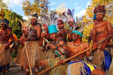 BRA0939AW South America, Brazil, Miranda, Terena indigenous people from the Brazilian Pantanal