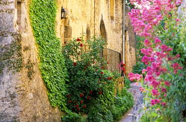 HMS182439 France, Drome, Drome Provencale, Le Poet Laval village, labelled Les Plus Beaux Villages de France (The Most Beautiful Villages of France)
