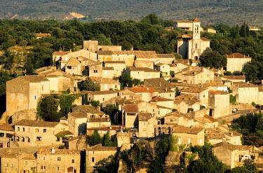 HMS120535 France, Ardeche, Balazuc village, labelled Les Plus Beaux Villages de France (The Most Beautiful Villages of France), along the Ardeche river defiles
