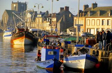 HMS215871 France, Manche, Cotentin, Barfleur, labelled Les Plus Beaux Villages de France (The Most Beautiful Villages of France), harbour