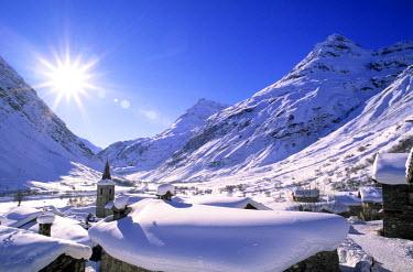 HMS039106 France, Savoie, Parc National de la Vanoise (Vanoise National Park), Bonneval sur Arc, labelled Les Plus Beaux Villages de France (The Most Beautiful Villages of France), the highest village of Haute...