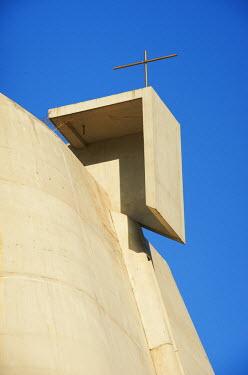HMS642914 France, Loire, Firminy, Le Corbusier site of Firminy (Firminy Vert), St Pierre church