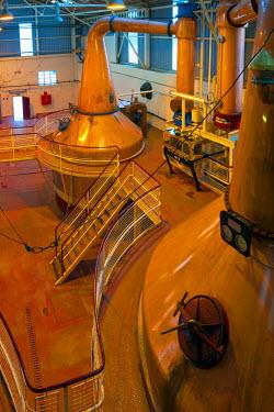 UK03244 UK, Scotland, Fort William, Ben Nevis Whisky Distillery, Copper Stills  (Property Released)