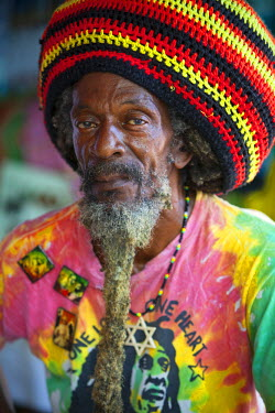 JM02141 Portrait of Jamaican Man,  Ocho Rios, St. Ann Parish, Jamaica, Caribbean (MR)