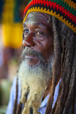 JM02145 Portrait of Jamaican Man,  Ocho Rios, St. Ann Parish, Jamaica, Caribbean (MR)