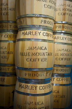 JM02272 Marley Coffee ready for export, Marley Coffee, Kingston, St. Andrew parish, Jamaica, Caribbean