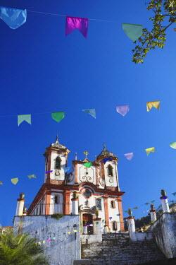 BRA1276AW Our Lady of Conceicao de Antonio Dias Church, Ouro Preto (UNESCO World Heritage Site), Minas Gerais, Brazil